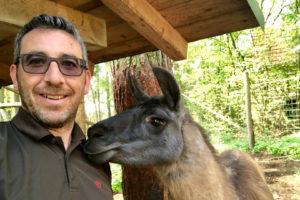 Martin Sommer und unser Lama Chef