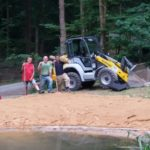 Sand marsch! - Der Bautrupp nach getaner Arbeit